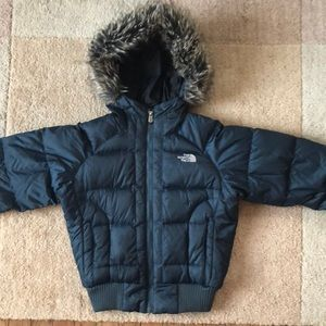 North face Gotham jacket (xs) navy blue